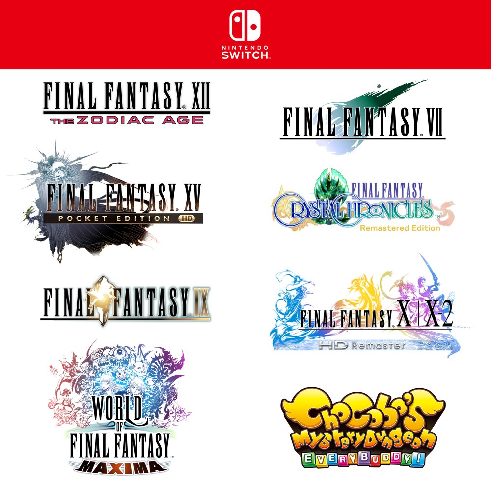 Final Fantasy Spiele für die Nintendo Switch