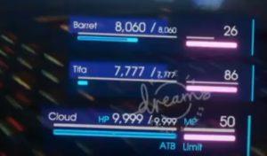 FFVII Dreamake Final Fantasy VII Energieleisten