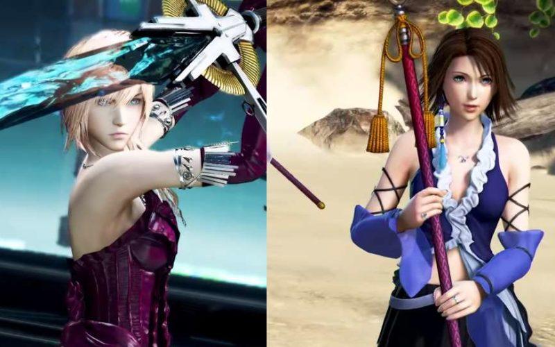 Dissidia Final Fantasy NT Yuna und Lightning Kostüme