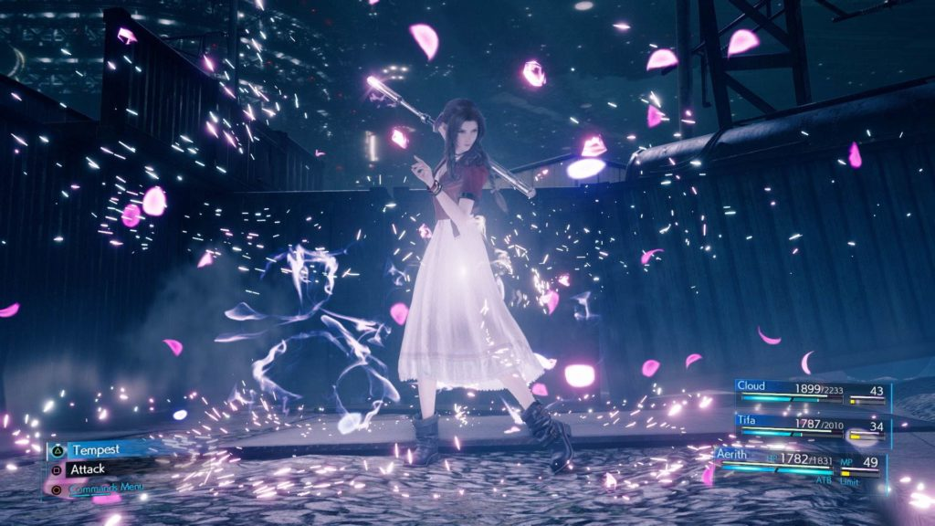 Aeris im Kampf in Final Fantasy VII Remake