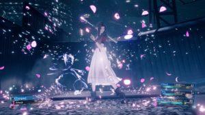 Aeris im Kampf in Final Fantasy VII Remake
