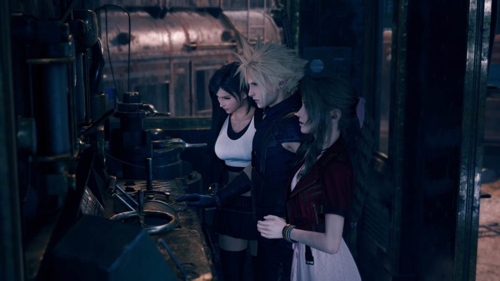 Tifa, Cloud und Aeris in Final Fantasy VII Remake