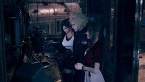 Tifa, Cloud und Aeris in Final Fantasy VII Remake