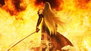 Ikonisches Bild von Sephiroth in Final Fantasy VII Remake